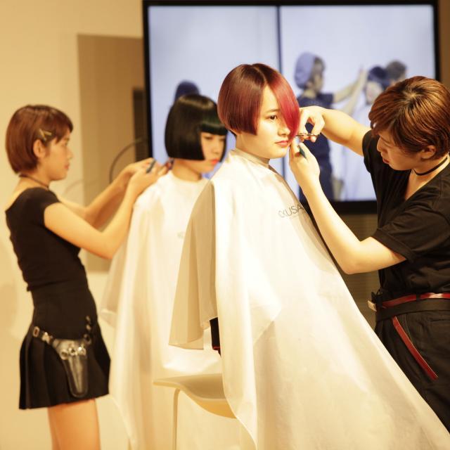 国際文化理容美容専門学校渋谷校 特別体験入学会:いつもよりバージョンアップしたヘアショー♪3