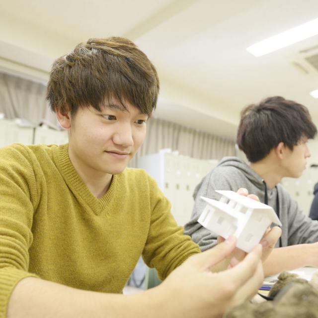 東海工業専門学校金山校 模型から学ぶ!建築模型コース!3