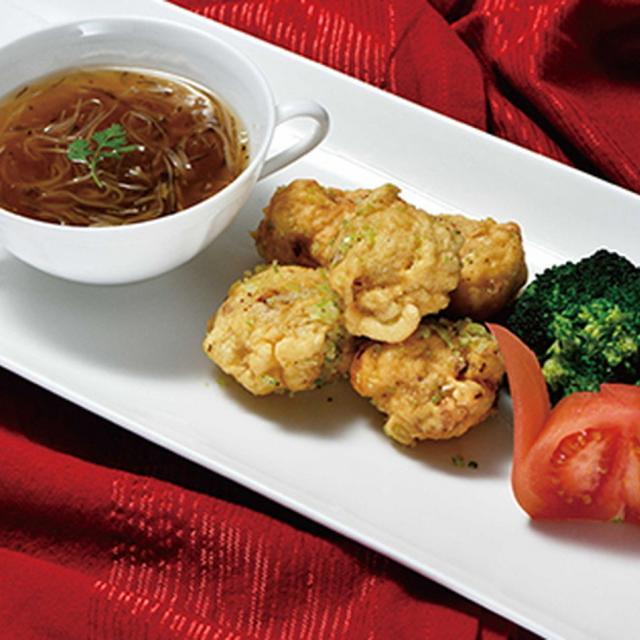 織田調理師専門学校 中華風から揚げ&ふかひれスープ1