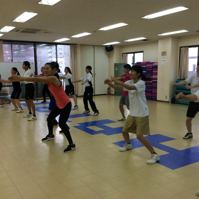 大阪社体スポーツ専門学校 ★フィットネスエクササイズの体験授業★1