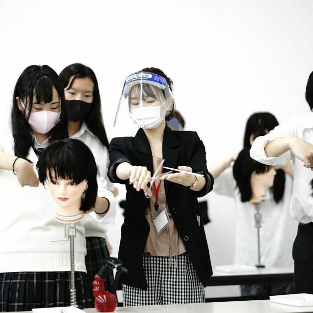 国際文化理容美容専門学校渋谷校 放課後体験入学会3