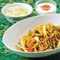 服部栄養専門学校 本格中華の人気メニュー!上海焼きそばと2種のデザート
