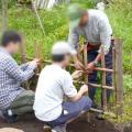 日本ガーデンデザイン専門学校 国家資格 技能検定のデモンストレーション