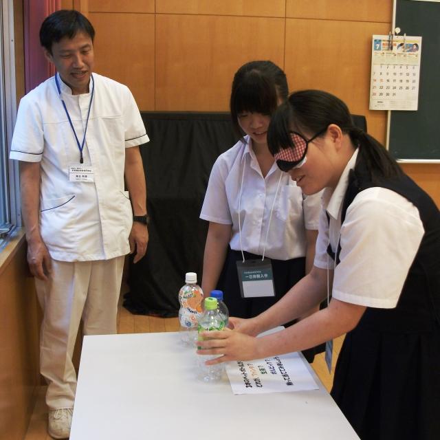 町田福祉保育専門学校 【介護系】盲導犬の理解&視覚障がい体験3
