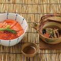 織田調理師専門学校 【10月】鮭とイクラの親子丼&松茸の土瓶蒸し