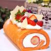 大阪調理製菓専門学校 【製菓】苺のロールケーキ