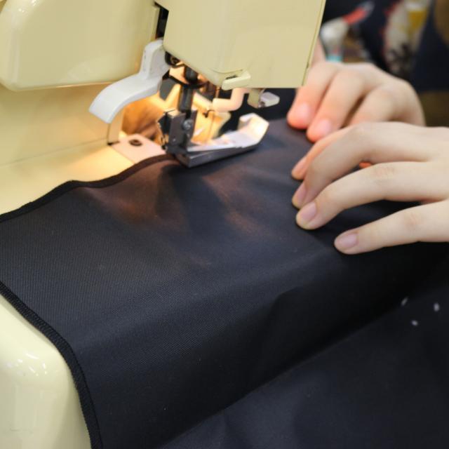 専門学校ファッションカレッジ桜丘 【体験実習B】サコッシュ製作2