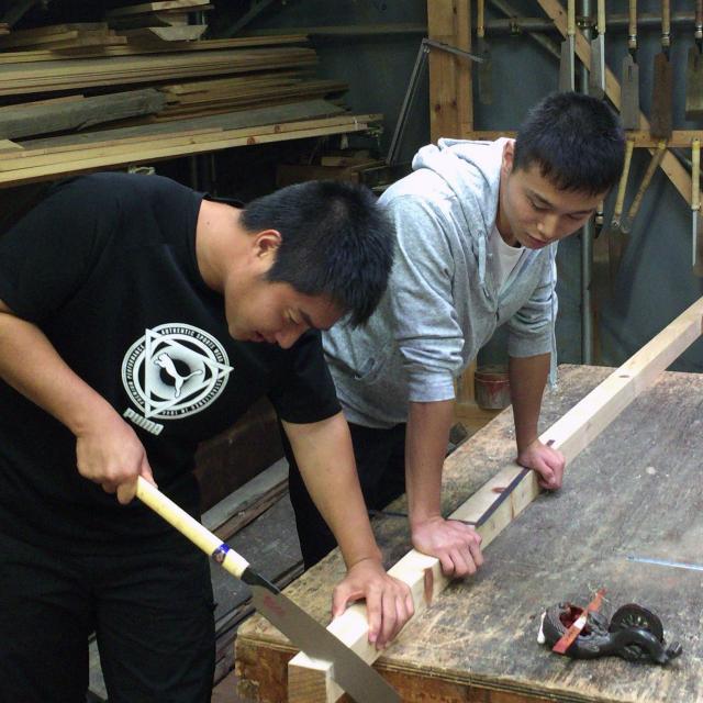京都建築専門学校 オープンキャンパス+木工体験1