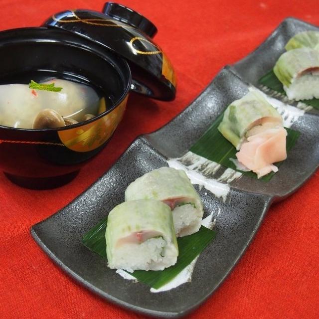 【調理体験】鯵の棒寿司、鯵のつみれ汁