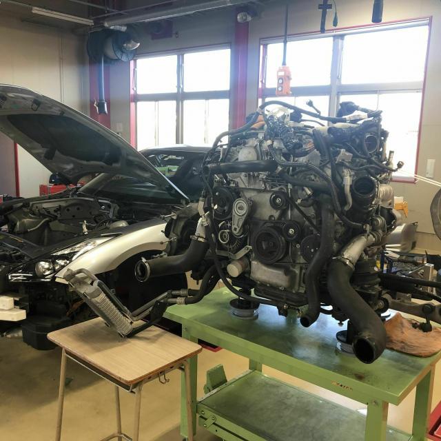 専門学校 群馬自動車大学校 バイク王スペシャル企画・レクサスRC、GT-R整備体験1