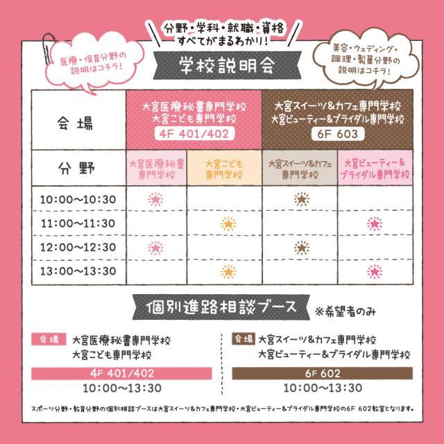 大宮スイーツ&カフェ専門学校 【高2生向け】特別イベント★お仕事まるわかりフェスタ3