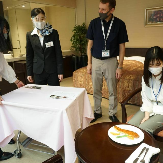 国際トラベル・ホテル・ブライダル専門学校 ホテル英語で会話してみよう♪ホテル科☆オープンキャンパス1