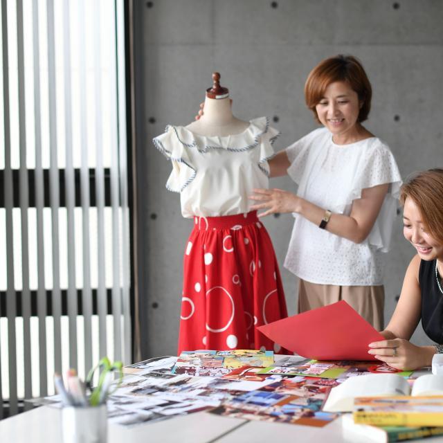 横浜ファッションデザイン専門学校 春のトレンドコーデ1