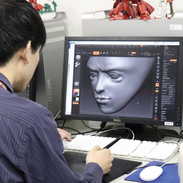 専門学校 九州デザイナー学院 11月の体験入学(フィギュア・トイ)1